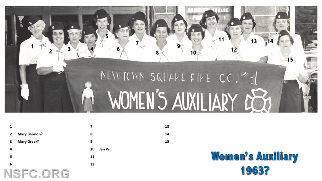 Women's Auxiliary 1963